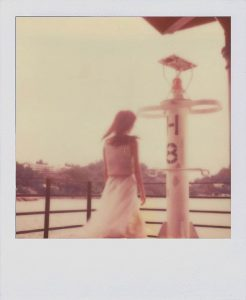 purple polaroid film