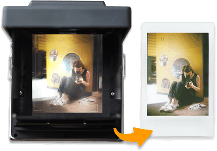 InstantFlex TL70 viewfinder 1:1 instant preview