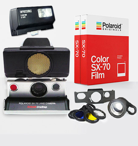 Polaroid SX-70 Sonar (Black) Camera Ultimate Package