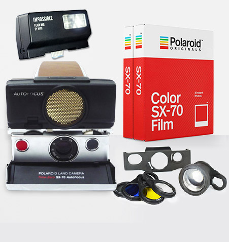 Polaroid SX-70 Sonar (Brown) Camera Ultimate Package