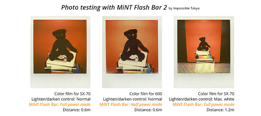 Photo testing with MiNT Flash Bar 2