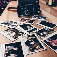 Travelling with RF70 instant film camera