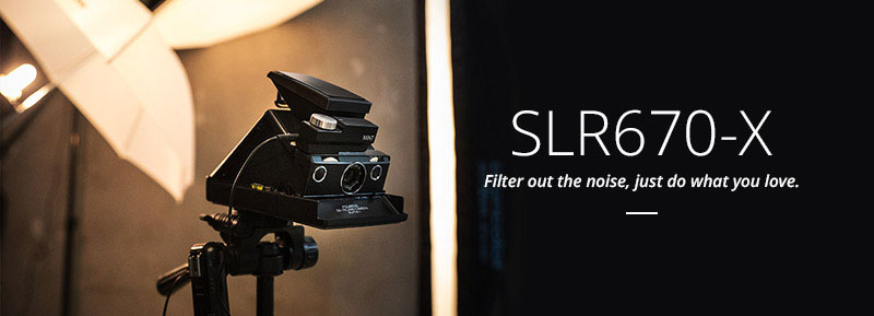 SLR670-S Noir, A timeless vintage polaroid camera for everyone