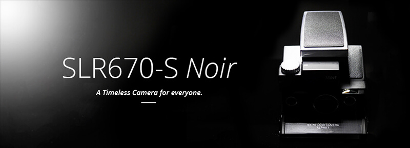 SLR670-S Noir, A timeless Polaroid camera for everyone