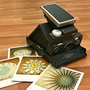 Polaroid SLR670-S camera and photos