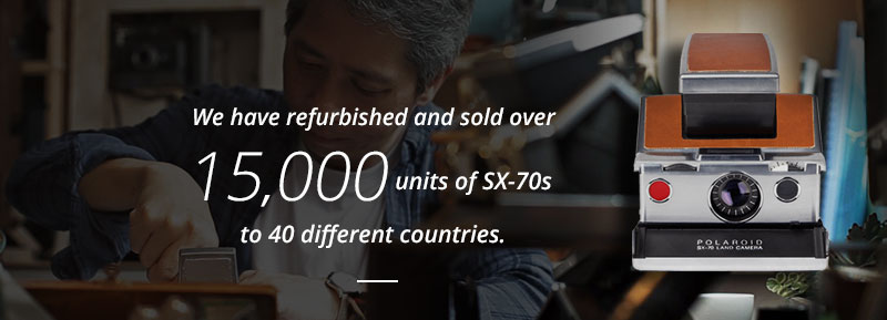 over 15,000 units of SX-70 sold all over the world
