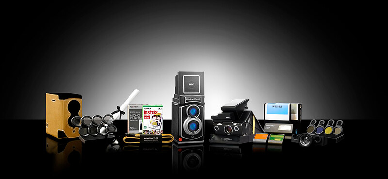 Your platinum package with TL70 2.0 and SLR670-X Vintage Polaroid Camera